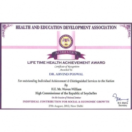 Life Time Health Achievement Award